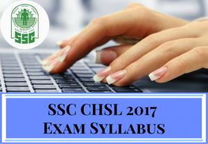 SSC CHSL Syllabus Pdf 2017 - 2018