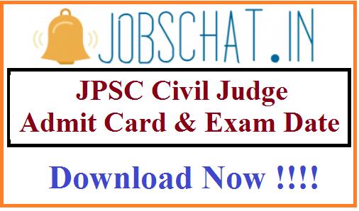 JPSC Civil Judge Admit Card