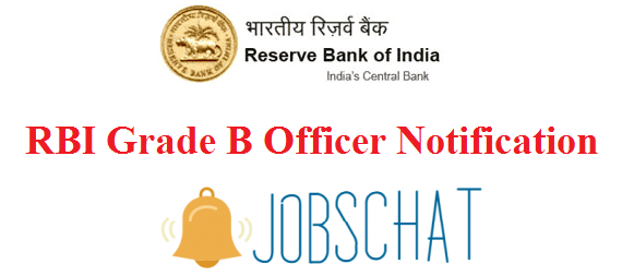 RBI Grade B Officer Notification
