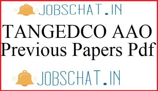 TANGEDCO AAO Previous Papers