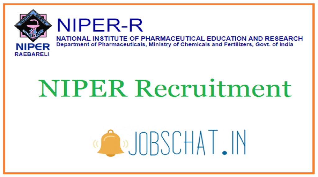 NIPER Recruitment