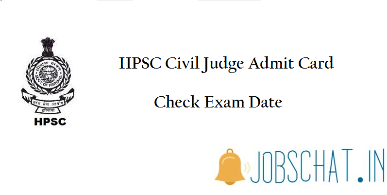 HPSC Civil Judge Admit Card