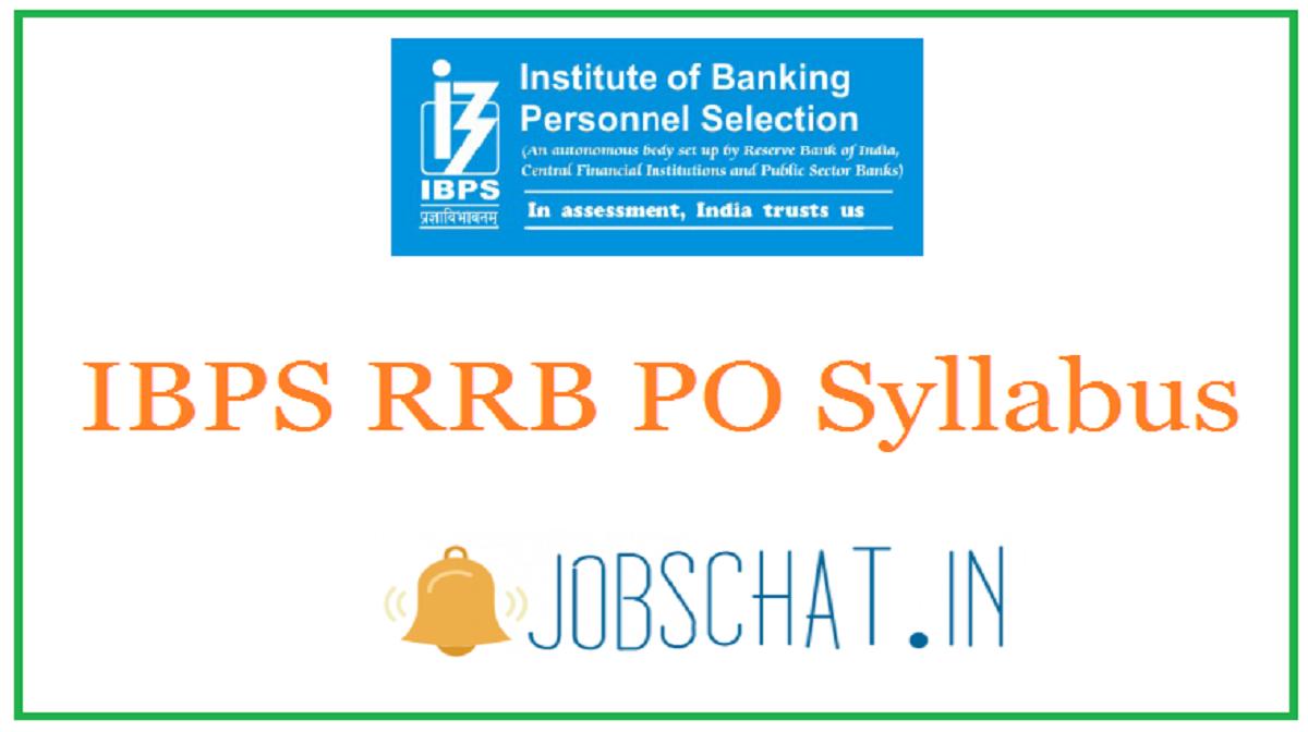 IBPS RRB PO Syllabus
