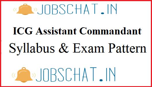 Indian Coast Guard Assistant Commandant Syllabus