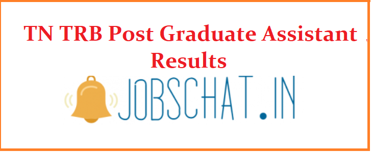TN TRB Post Graduate Assistant Results
