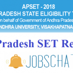 Andhra Pradesh SET Results 2018   Download AP SET Exam Answer Keys, Cut Off Marks @ apset.net.in