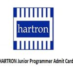 HARTRON Junior Programmer Admit Card 2017