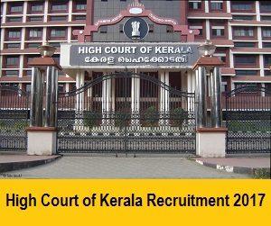 High Court Of Kerala Recruitment Notification