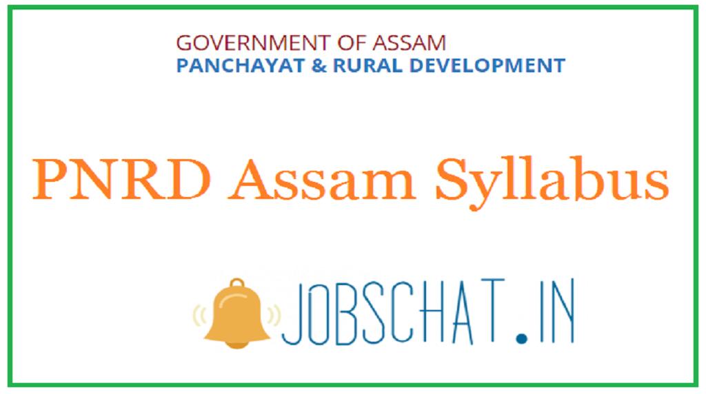PNRD Assam Syllabus