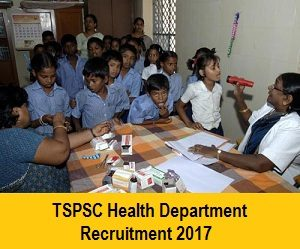 TSPSC Health Department Recruitment Notification
