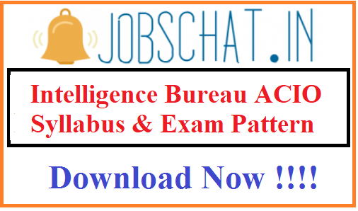 Intelligence Bureau ACIO Syllabus