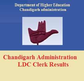 Chandigarh Administration LDC Clerk Result