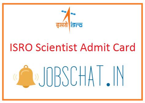 ISRO Scientist Admit Card