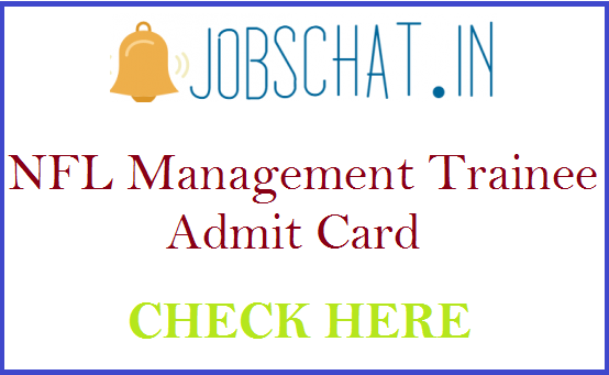 NFL Management Trainee Admit Card