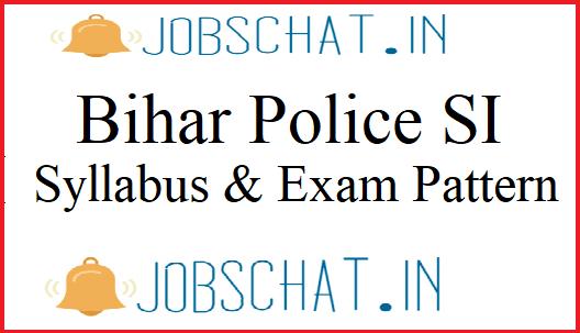 Bihar Police Sub Inspector Syllabus