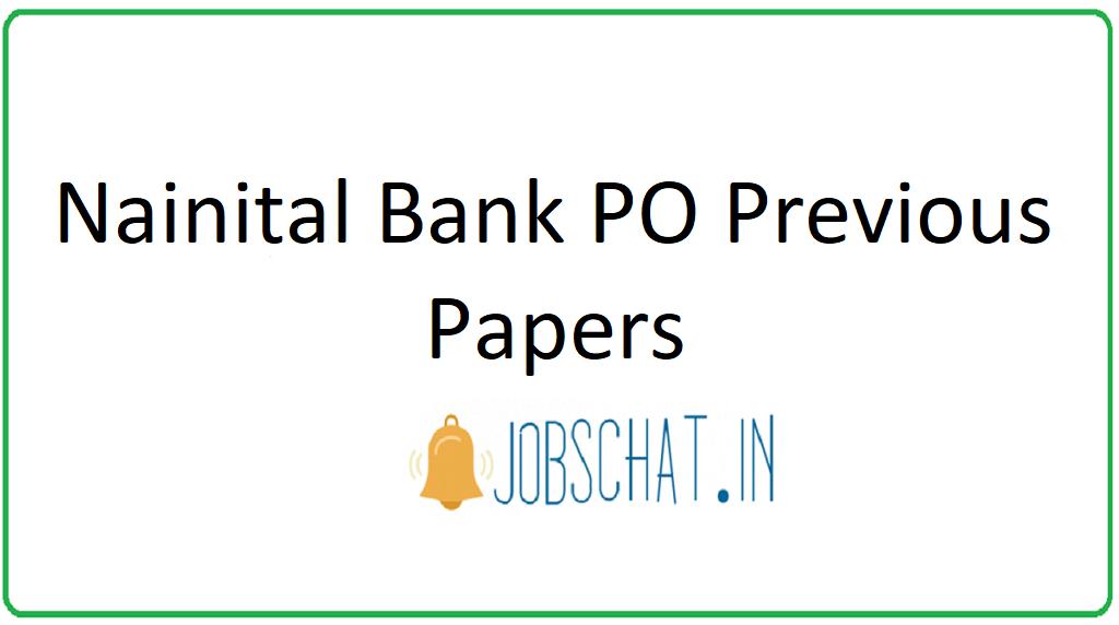 Nainital Bank PO Previous Papers