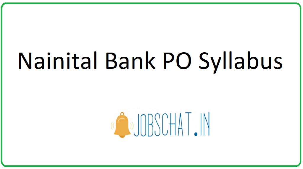 Nainital Bank PO Syllabus