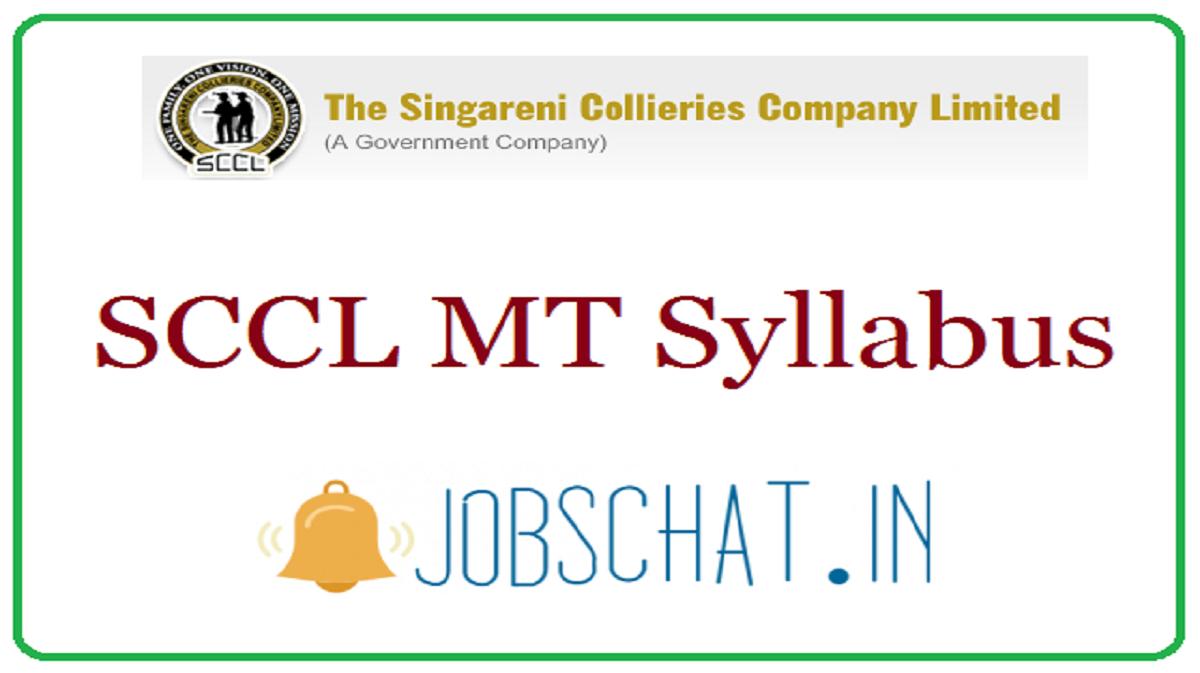 SCCL MT Syllabus