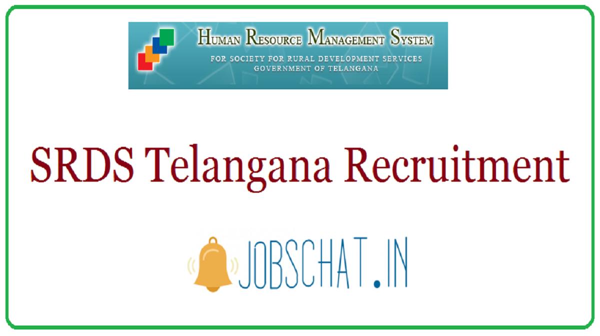 SRDS Telangana Recruitment