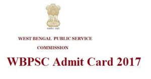 PSCWB Assistant Master Admit Card 2017