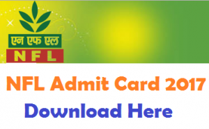 NFL MT Admit Card 2017