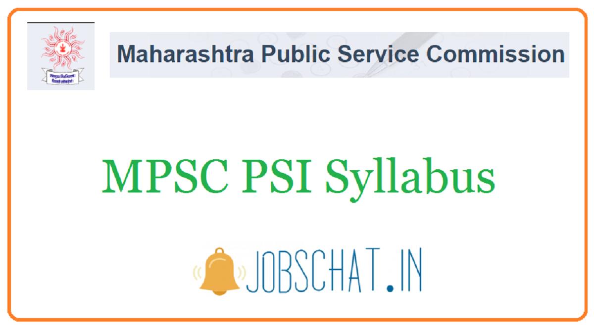 MPSC PSI Syllabus