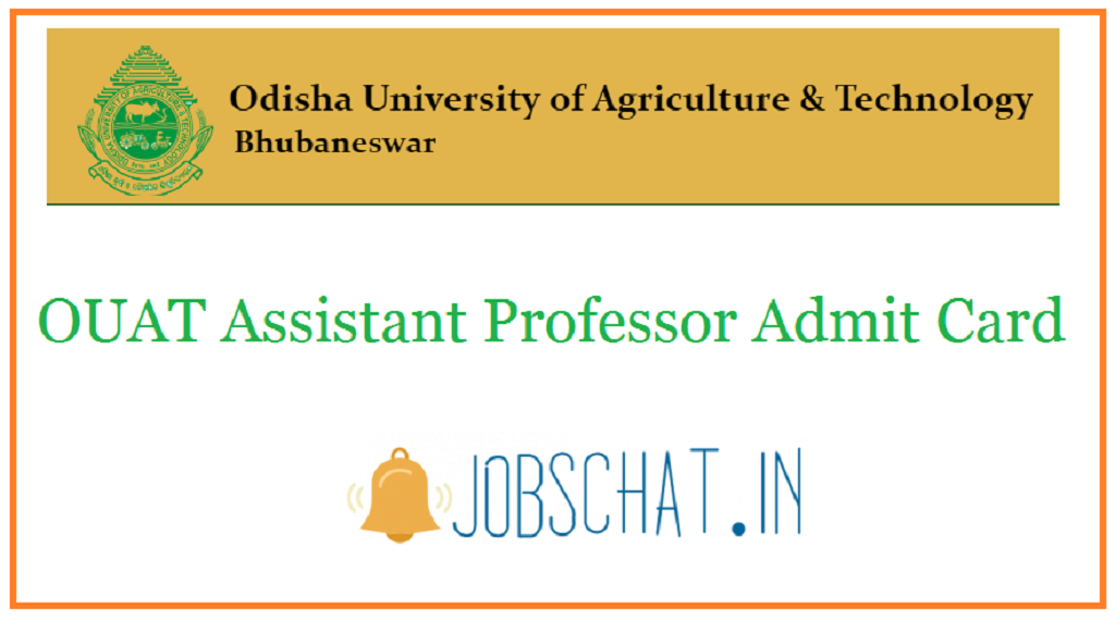OUAT Assistant Professor Admit Card