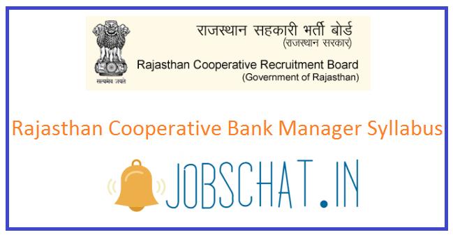 Rajasthan Cooperative Bank Manager Syllabus