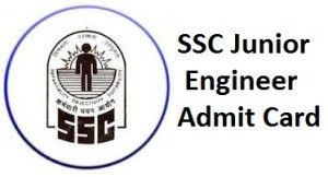 SSC Junior Engineer Admit Card