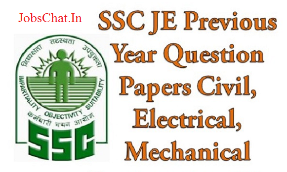 SSC JE Previous Papers