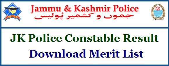 JKP Police Constable Results