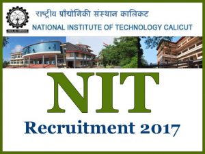 NIT Calicut Technical Staff Recruitment