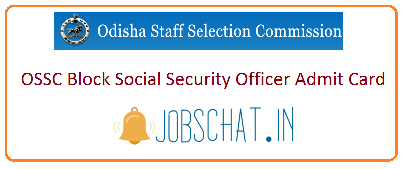 OSSC Block Social Security Officer Admit Card