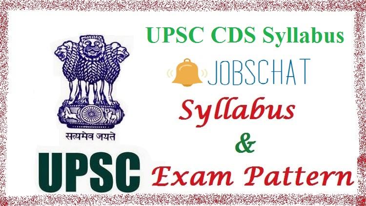 UPSC CDS 2 Exam Syllabus