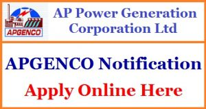 APGENCO Junior Accounts Officer Recruitment