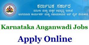 Karnataka Anganwadi Recruitment Notification 2017-18