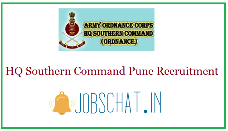 HQ Southern Command Pune Recruitment