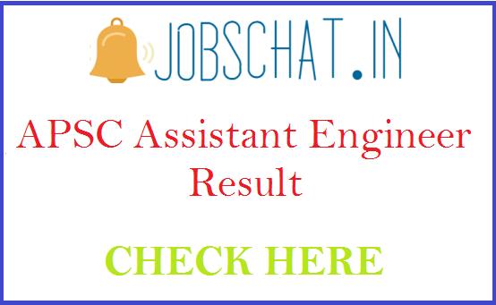 APSC Assistant Engineer Result