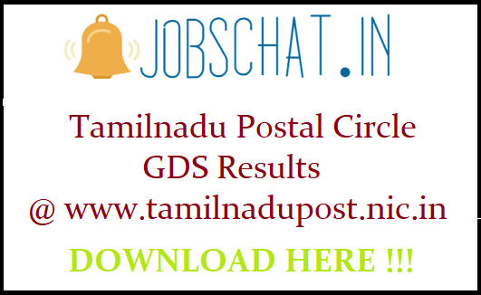 Tamilnadu Postal Circle GDS Results