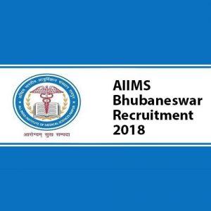 AIIMS Bhubaneswar Sr. & Jr. Resident Recruitment 2018