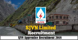 SJVN Apprentice Recruitment 2018
