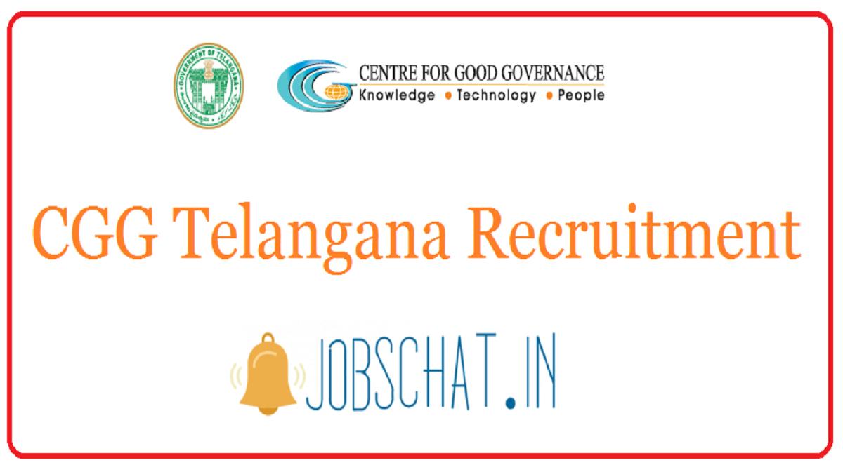 CGG Telangana Recruitment