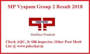 MP Vyapam Group 2 Result