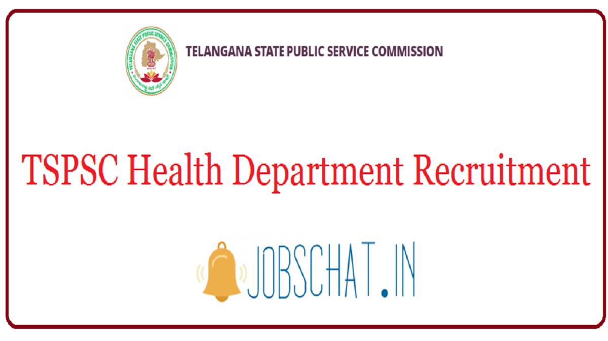 TSPSC Health Department Recruitment