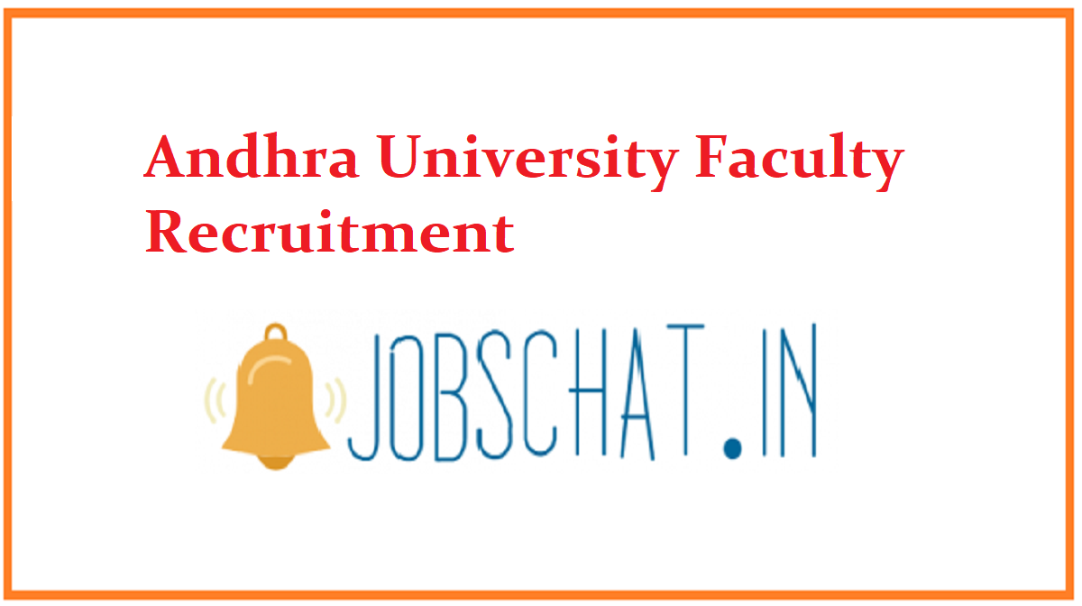 Andhra University Faculty Recruitment