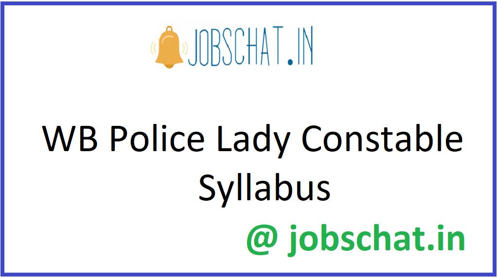 WB Police Lady Constable Syllabus