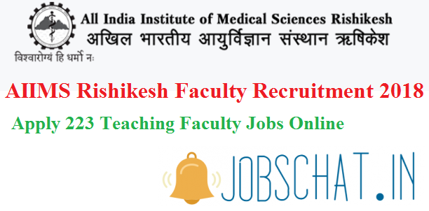 AIIMS Rishikesh Faculty Recruitment