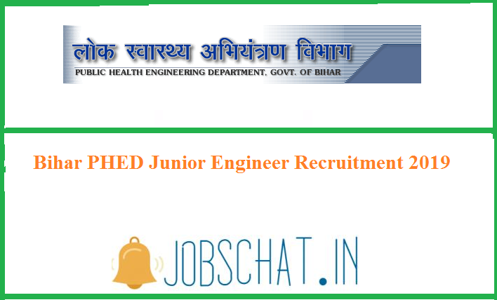 Bihar PHED Junior Engineer Recruitment 2019