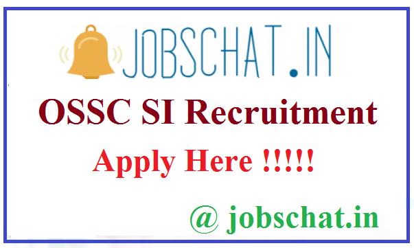 OSSC SI Recruitment