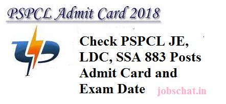 PSPCL LDC Admit Card